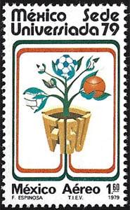 1979 Mexico – Universiada (baseball shown), 1.60 Pesos