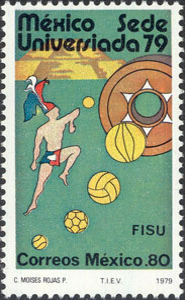 1979 Mexico – Universiada (baseball shown), 0.80 Pesos