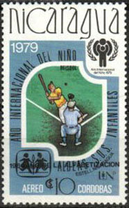 1980 Nicaragua – International Year of the Child (overprinted: alfabetizacion)
