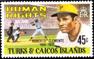 1980 Turks & Caicos – Human Rights, Roberto Clemente