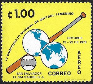 1978 El Salvador – IV Campeonato Mundial de Softbol Feminino – ₡1