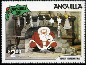 1981 Anguilla – The Night Before Christmas with Baseball Gifts