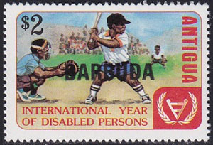 1981 Barbuda – International Year of Disabled Persons with Overprint