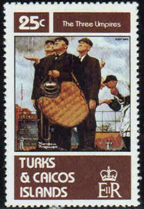 1982 Turks & Caicos – Norman Rockwell's Three Umpires