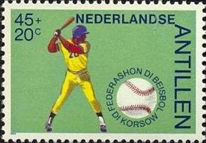1984 Netherlands – 50 Years Curacao Baseball Federation, 45 + 20¢