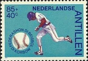 1984 Netherlands – 50 Years Curacao Baseball Federation, 85 + 40¢