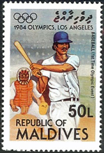 1985 Maldive Islands – Olympic Games in Los Angeles (Japan overprint)
