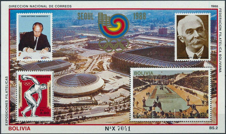 1988 Bolivia – Olympic Games Souvenir Sheet