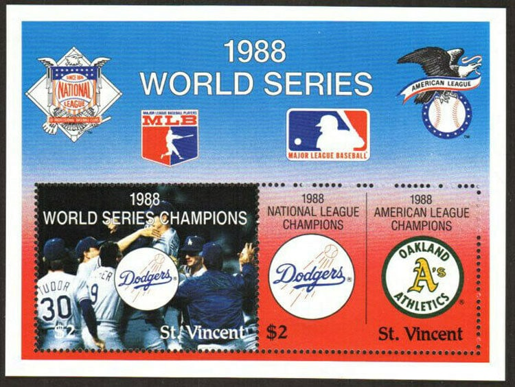 1988 St. Vincent – World Series Champion Los Angeles Dodgers