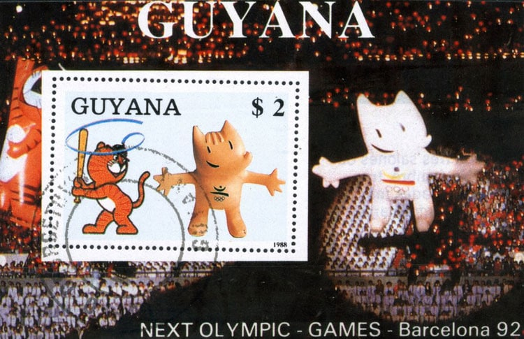 1989 Guyana – Olympic Games in Barcelona Souvenir Sheet