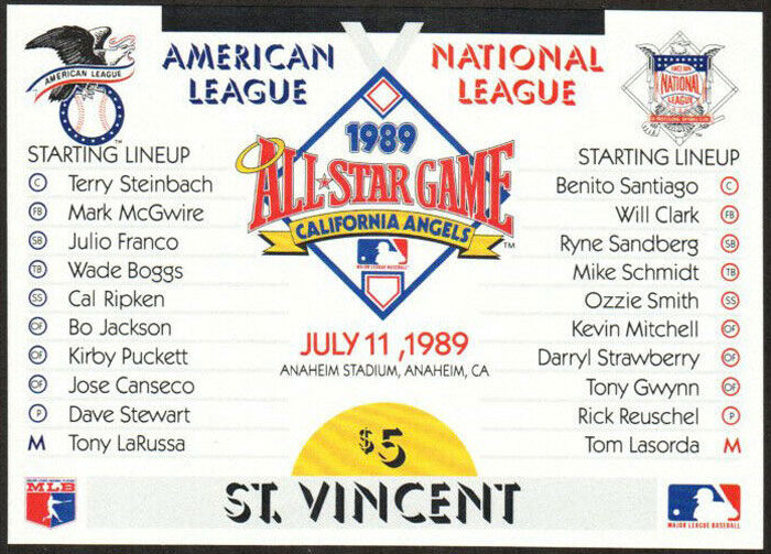 1989 St. Vincent – MLB All-Star Game