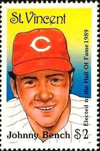 1989 St. Vincent – Johnny Bench