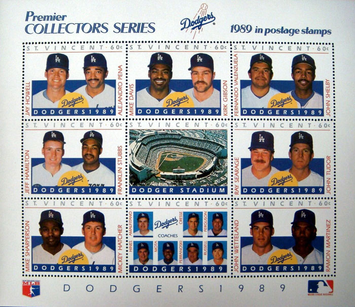 1989 St. Vincent – Premier Collectors Series, Los Angeles Dodgers, Sheet 1