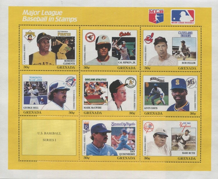 1990 Grenada – MLB in Stamps without Pete Rose