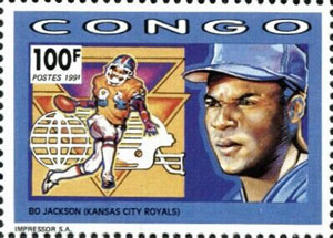1991 Congo – Bo Jackson Baseball & Football