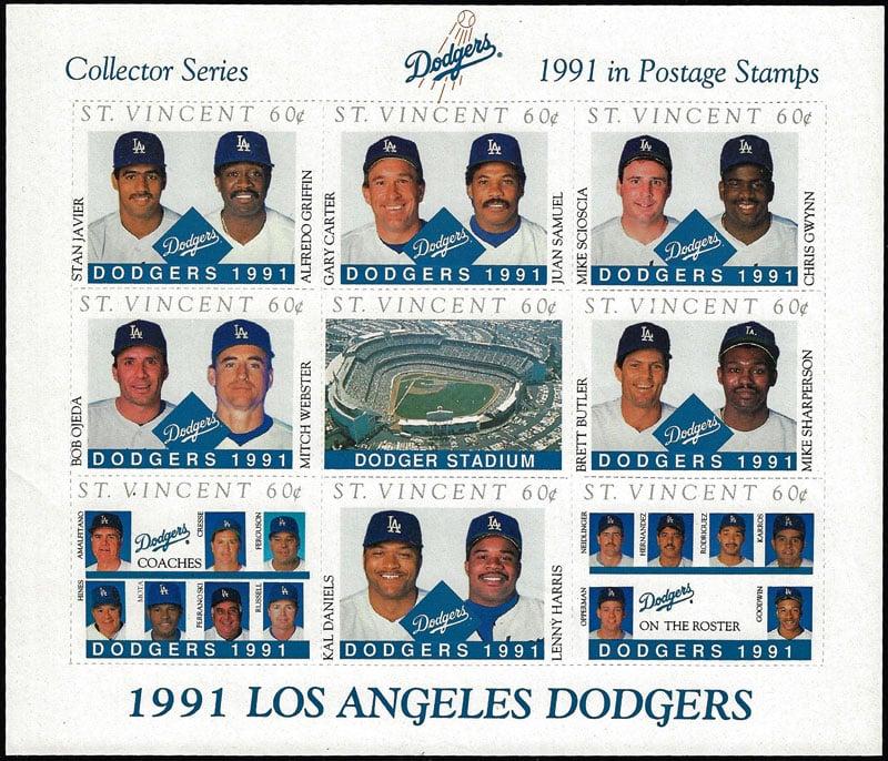 1990 St. Vincent – Los Angeles Dodgers, Sheet 2