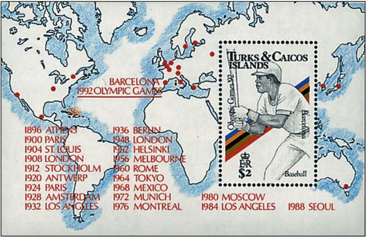1991 Turks and Caicos – Olympic Games in Barcelona Souvenir Sheet