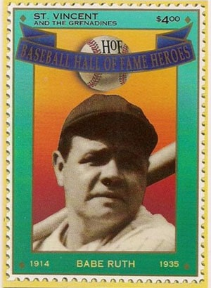 1992 St. Vincents – Hall of Fame Heroes, Babe Ruth
