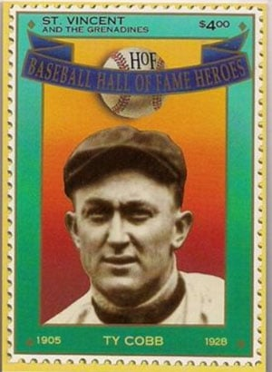 1992 St. Vincents – Hall of Fame Heroes, Ty Cobb