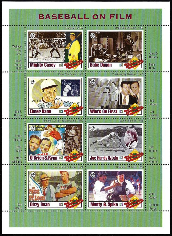 1993 Gambia – Baseball on Film, Sheet 1