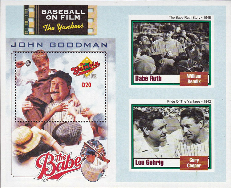1993 Gambia – Baseball on Film, The Yankees with Babe Ruth and Lou Gehrig