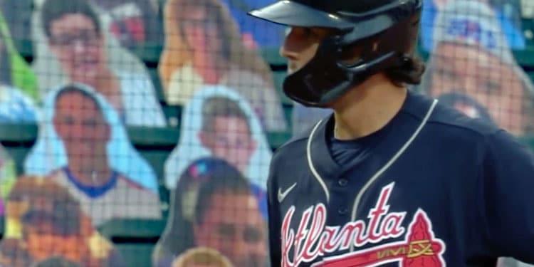 Scott Isaacs as a Baseball Cardboard Cutout