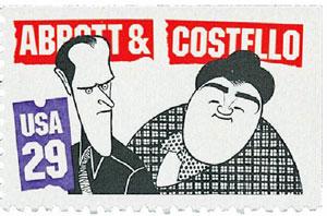 1991 Abbott & Costello Postage Stamp