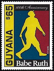 1995 Guyana – 100th Anniversary of Babe Ruth Birth