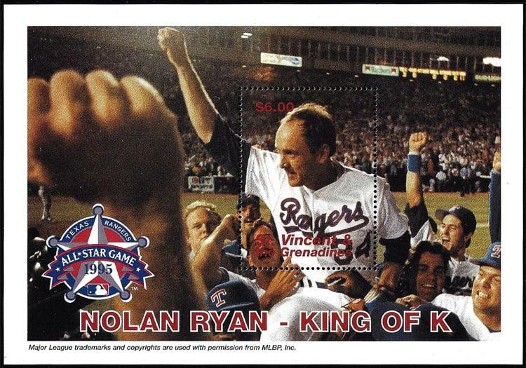 1995 St. Vincent – Nolan Ryan, King of K