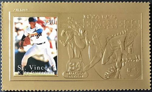 1995 St. Vincent – Nolan Ryan, Ryan's Express, 23k Gold