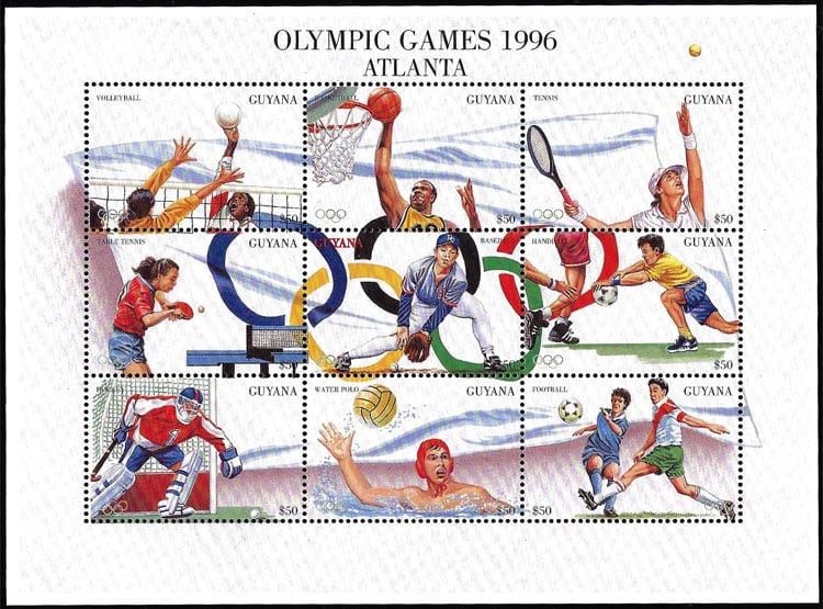 1996 Guyana – Olympic Games in Atlanta Souvenir Sheet