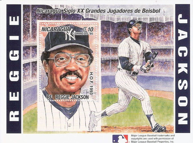 1996 Nicaragua – Century's Great Baseball Players, Reggie Jackson
