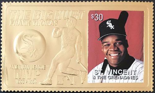 1996 St. Vincent – Frank Thomas, The Big Hurt, 23k Gold