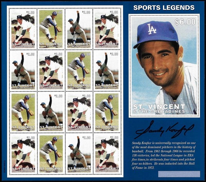 1996 St. Vincent – Sports Legends, Sandy Koufax