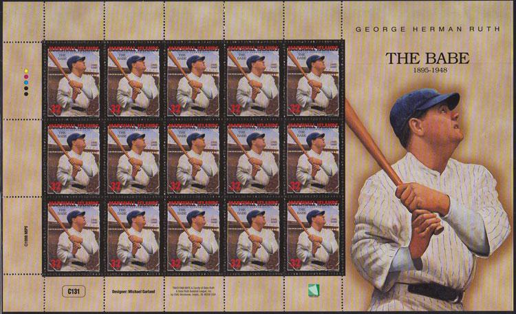 1998 Marshall Islands – Babe Ruth Souvenir Sheet