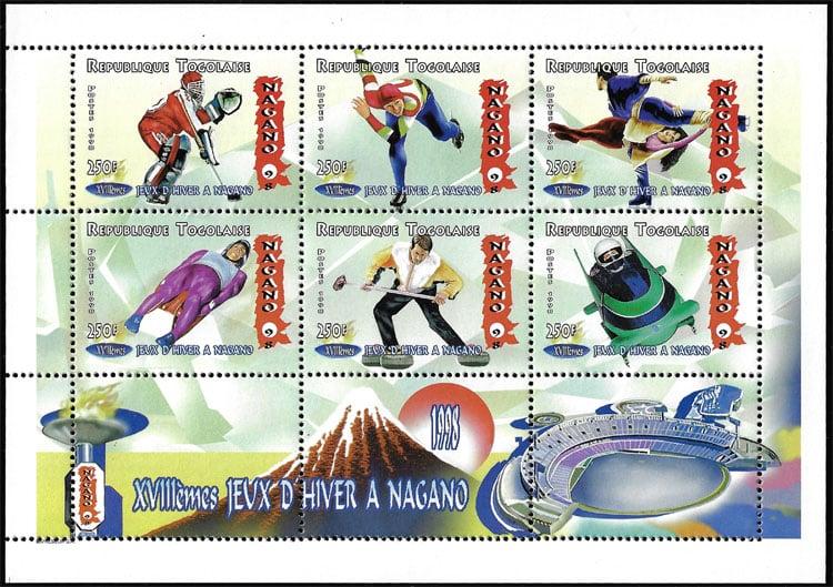 1998 Togo – 28th Olympic Games, Baseball Stadium in Nagano, Sheet 1