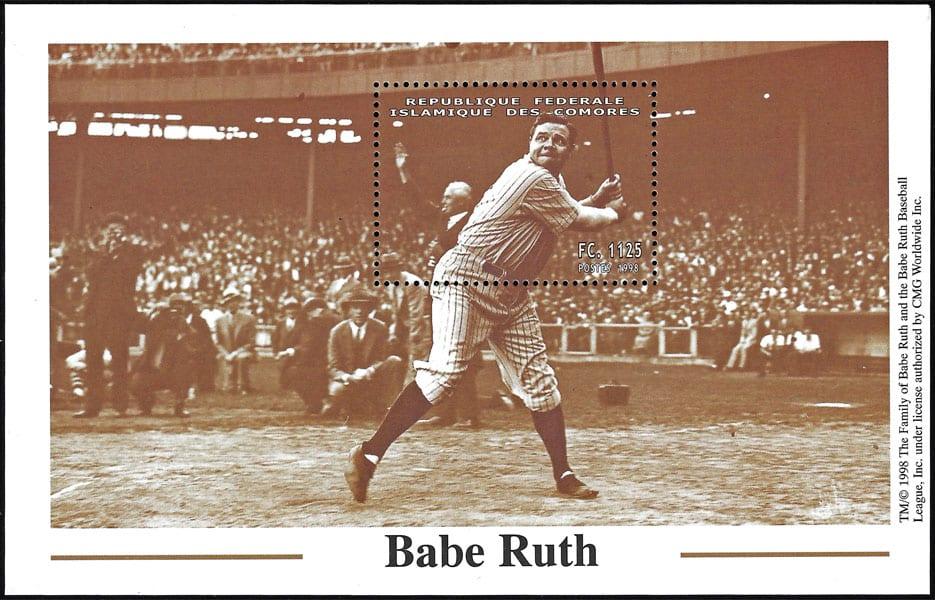 1999 Comores – Babe Ruth batting