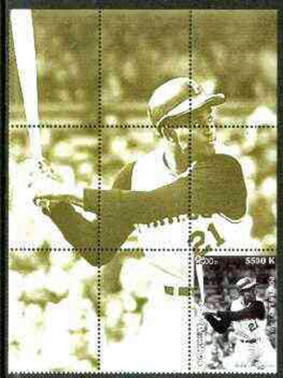 1999 Laos – Great People of the 20th Century, Roberto Clemente Souvenir Sheet