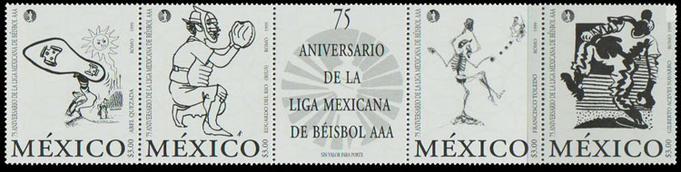 1999 Mexico – 75th Anniversary of the Mexican Baseball League