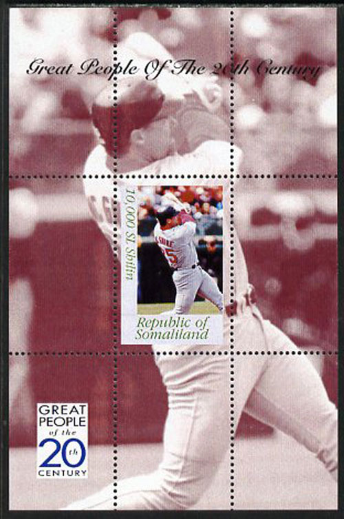 1999 Somaliland – Great People of the 20th Century, Mark McGwire Souvenir Sheet