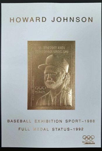 1992 St. Vincent – Olympic Games, Howard Johnson, Baseball Exhibition Sport, Gold Medal