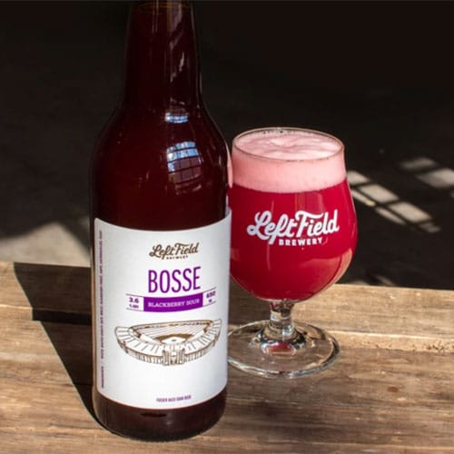 Bosse Blackberry Sour in a Glass by Left Field Brewing