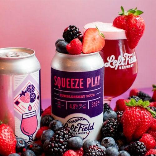 Squeeze Play Bumbleberry Sour by Left Field Brewing