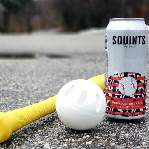 Squints Pale Ale by Henniker Plays Wiffleball