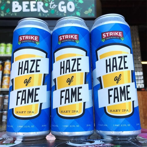 Haze of Fame IPA by Strike Brewing