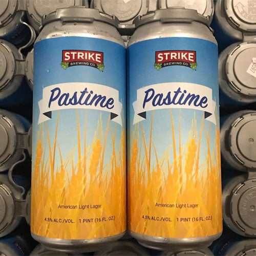 Pastime American Light Lager by Strike Brewing