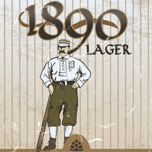 Burgh'ers Brewing – 1890 Lager Label Art