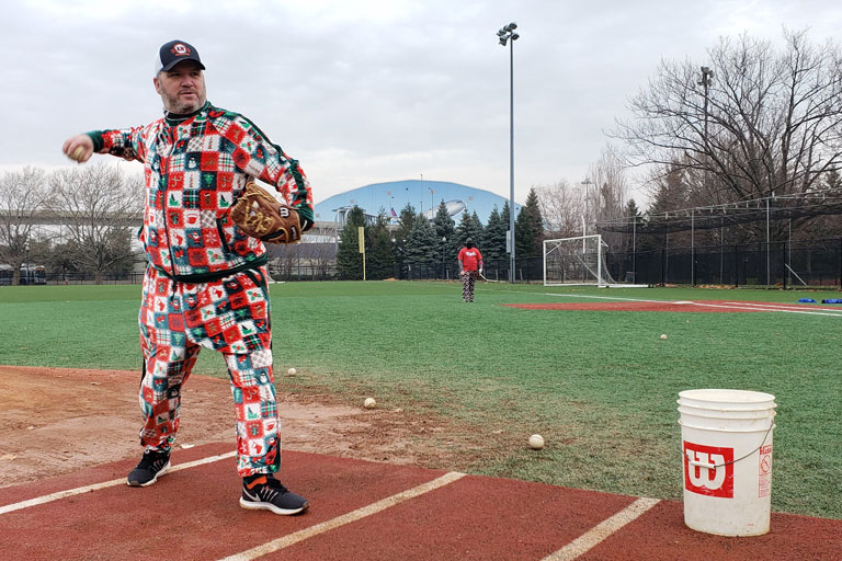 Kevin O'Leary Pitching Batting Practice
