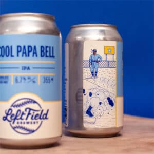 Left Field Brewery – Cool Papa Bell IPA Label Artwork