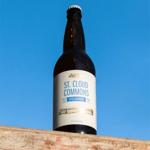 Left Field Brewery – St. Cloud Commons Pilsner Bottle